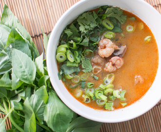 FOOD: Thaise rode curry soep met garnalen