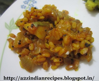Moong Daal Bhaji with Raw Mango