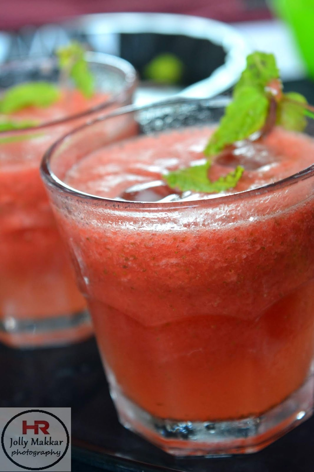 Watermelon, Mint and Lime Slushie Recipe | 4 Ingredient Watermelon Slushie