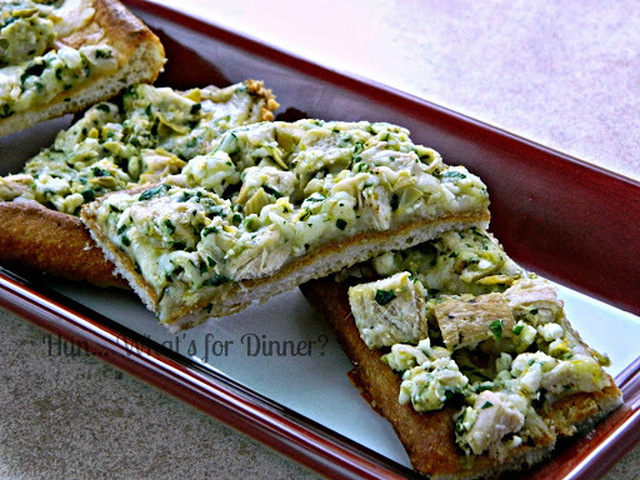 The Pampered Chef ® Greek Chicken & Artichoke Flatbread