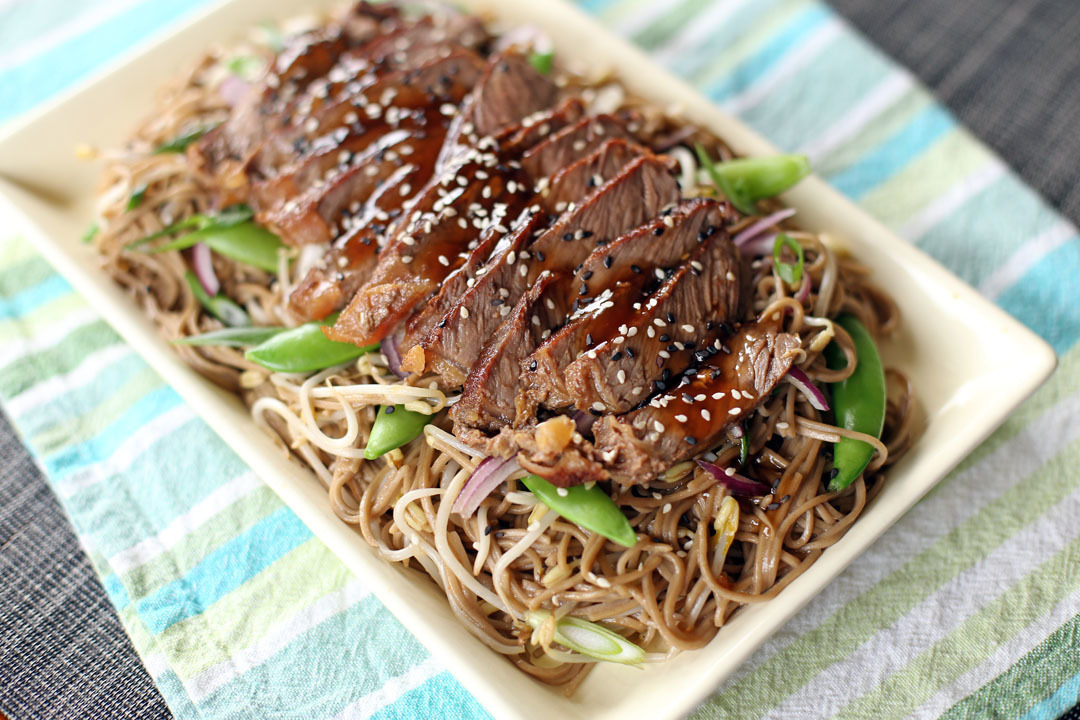 Teriyaki Steak Soba
