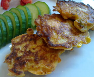 Sweetcorn and carrot fritters