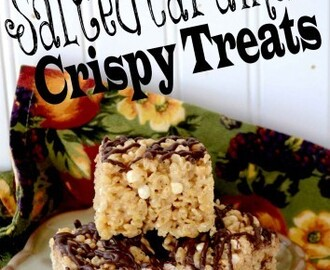 Salted Caramel Crispy Treats!  Super easy recipe!