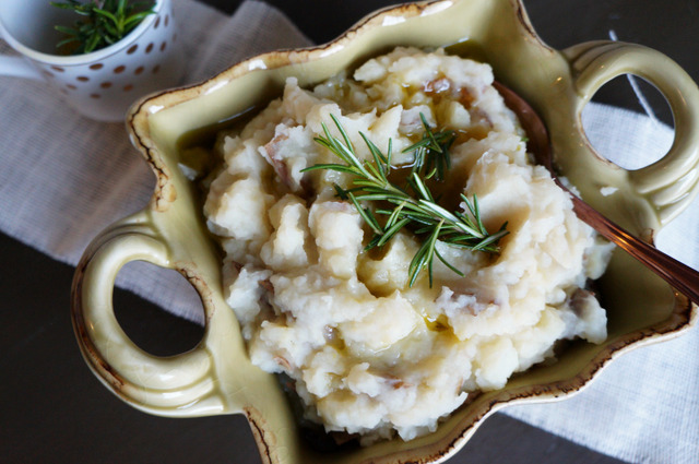 rosemary roasted garlic mashed potatoes