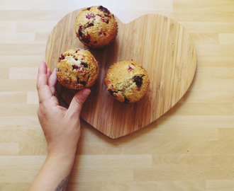 raspberry & chocolate chip muffins.
