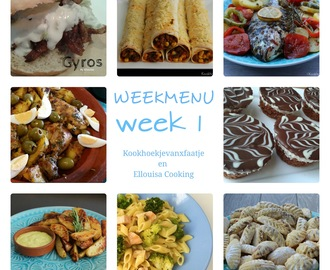 Weekmenu week 1