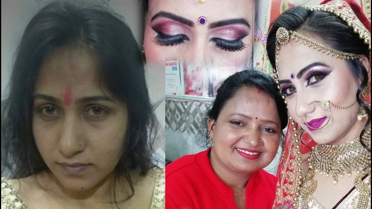 Real bridal makeup|| purple smoky eye makeup in hindi