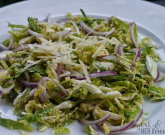Shaved Brussels Sprouts Cesar Salad