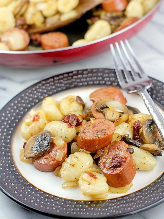 Cajun Sausage and Gnocchi (Ready in 20 minutes!)