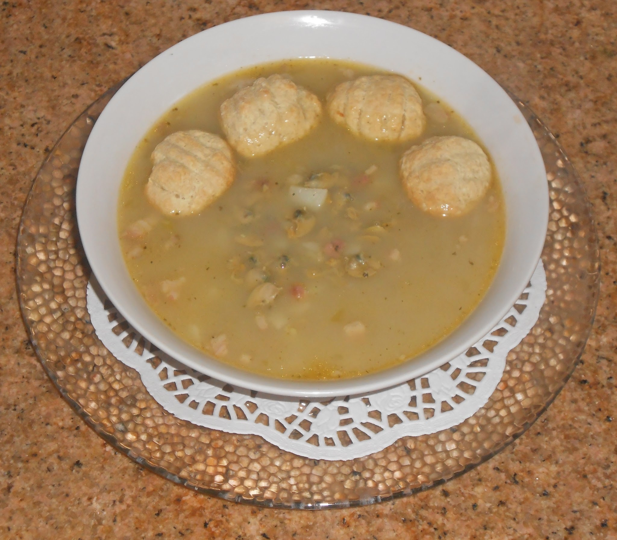 Rhode Island Chowder - South County Style with Oyster Crackers ~ Best Shoe Repair, Las Vegas!