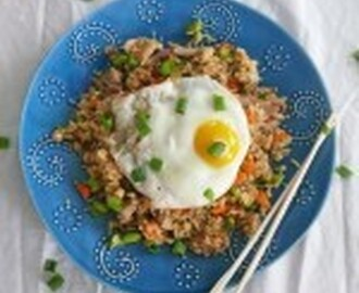 Duck Fried Rice … with a Sunny Side Up Egg!