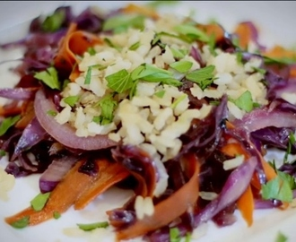 Red Cabbage Asian Crunch Salad