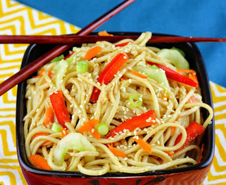 Sesame Noodles with Chicken and Vegetables