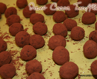 Dark Chocolate Cocoa Truffles