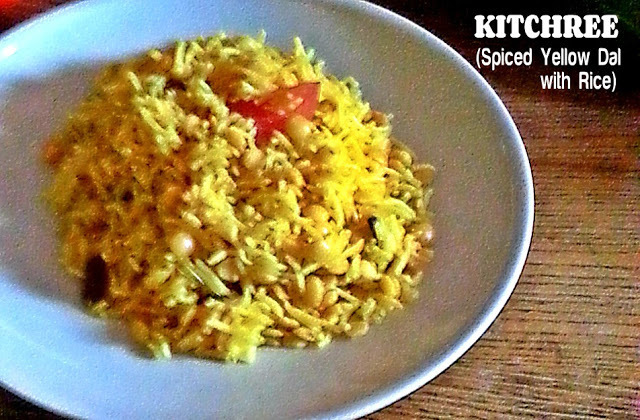 KITCHREE (SPICED YELLOW DAL WITH RICE)  RECIPE