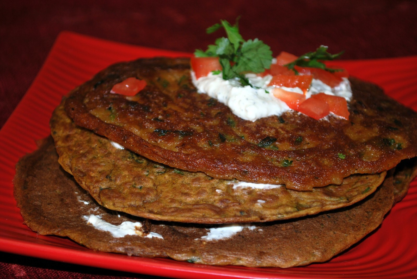 Mixed Veggie Besan Chilla / Chickpea Pancake