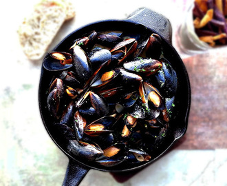 Mussels in Buttery Miso Broth