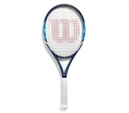 Wilson - Ultra 100 (strung) tennis racket (blue) - L2
