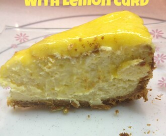 New York Cheese Cake with Lemon Curd