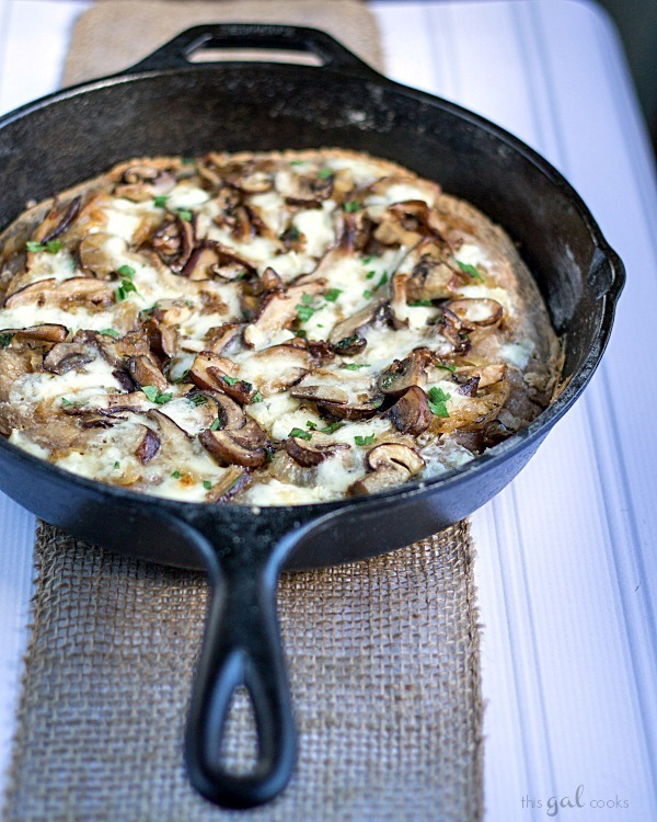 Mushroom and Brie Pizza with Whole Wheat Beer Crust