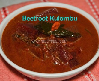 Beetroot Kulambu (curry) / Beets Curry for rice / Veg Kuzhambu recipe