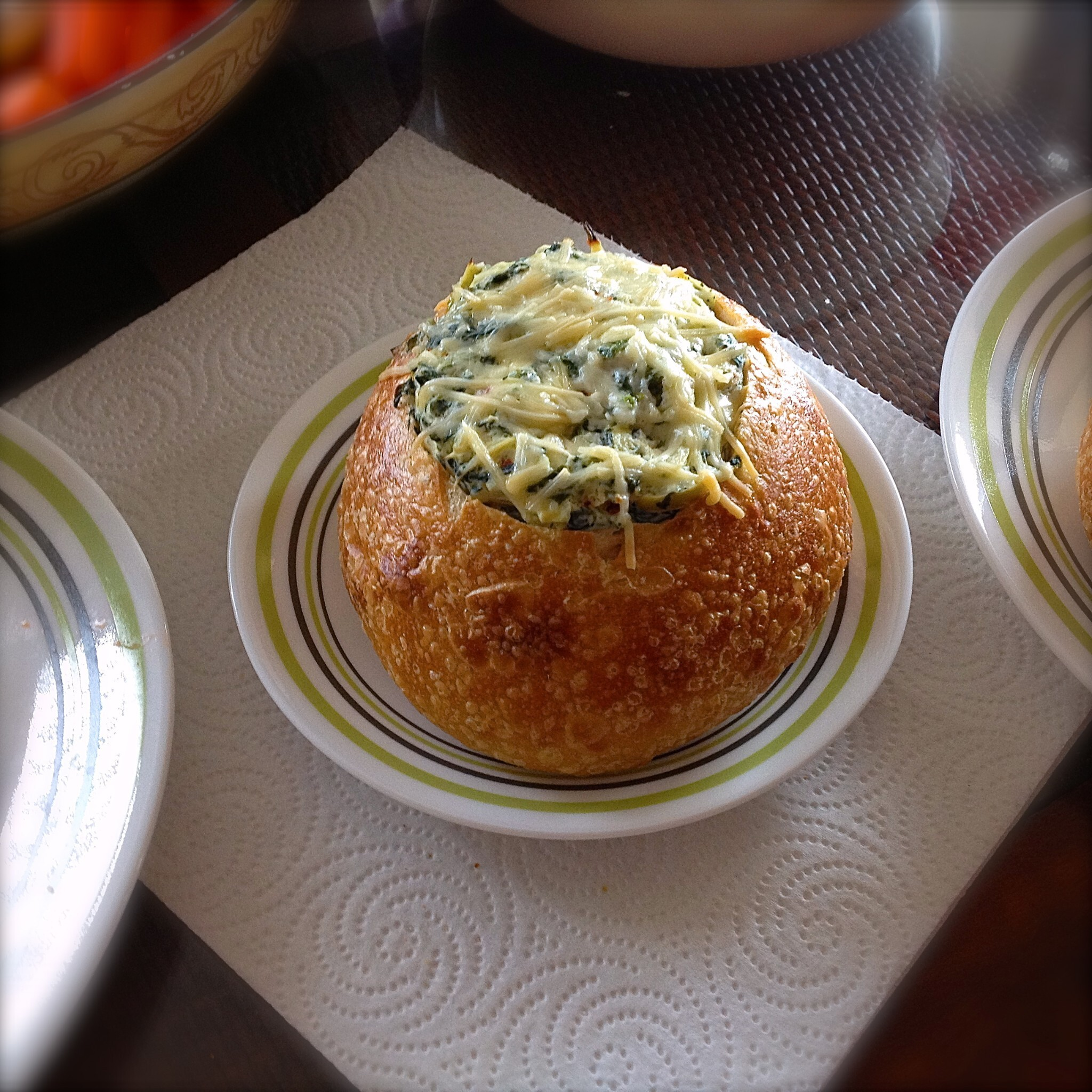 Lightened-Up Baked Spinach and Artichoke Dip