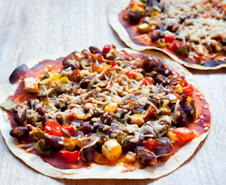 Meatless Monday: Mexicaanse tortilla pizza