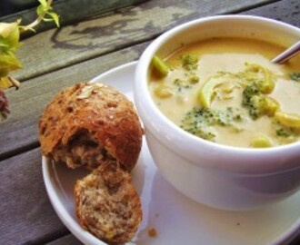 broccoli cheese soup with pumpkin puree