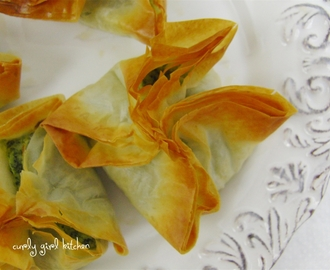 Feta and Spinach Phyllo Twists