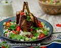 Indian Spiced Lamb Cutlets with Onion Salad