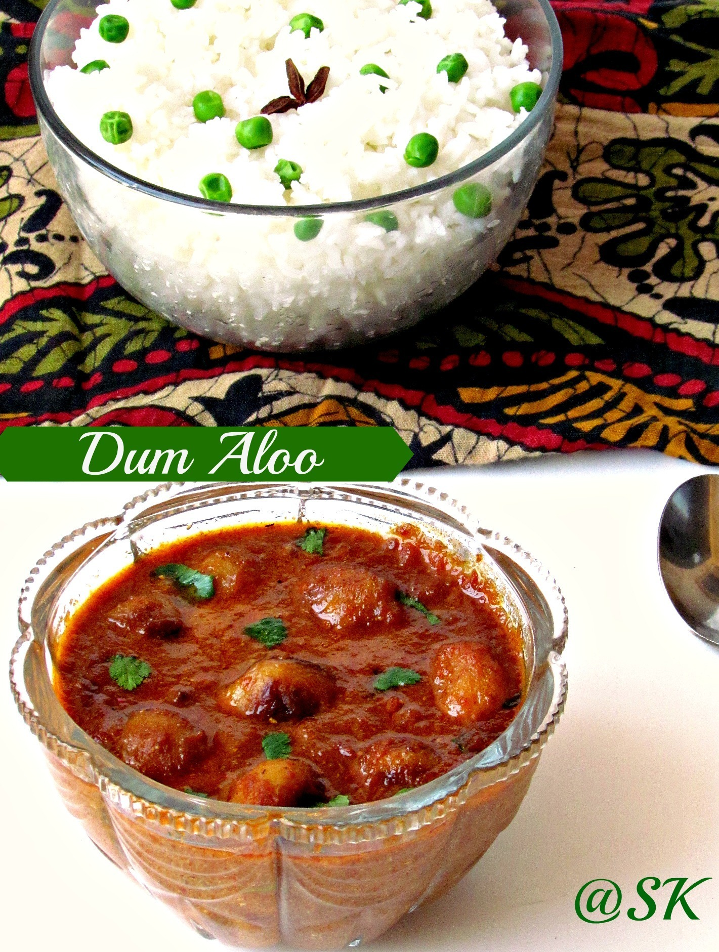Dum aloo  - A Kashmiri Dish -With stepwise pictures - Blogging marathon #27