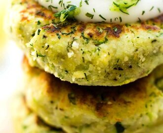 4 Ingredient Zucchini Cauliflower Fritters (Paleo, Vegan)