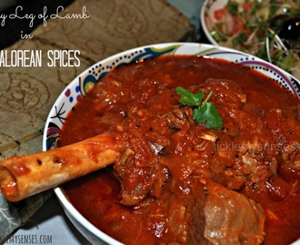 POST EASTER SPECIAL: Pot Roasted Leg of Lamb in a Spicy Mangalore Style Curry.