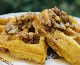 Pumpkin Buttermilk Waffles