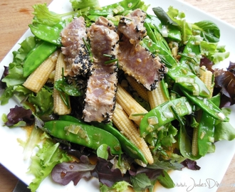 In the picture: Lauwwarme salade met tonijn