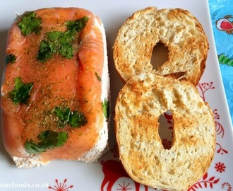 Salmon Terrine with Bagel Toasts, my ideal Christmas breakfast.