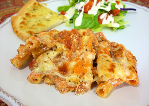 One-Pot Baked Ziti {Pampered Chef Rockcrok Giveaway}