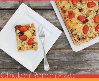 BBQ Chicken Ranch Pizza