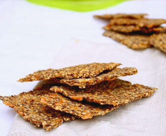 Crackers de sementes (vídeo). Seed Crackers