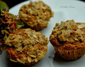 Banana oats muffin with almond streusel topping!