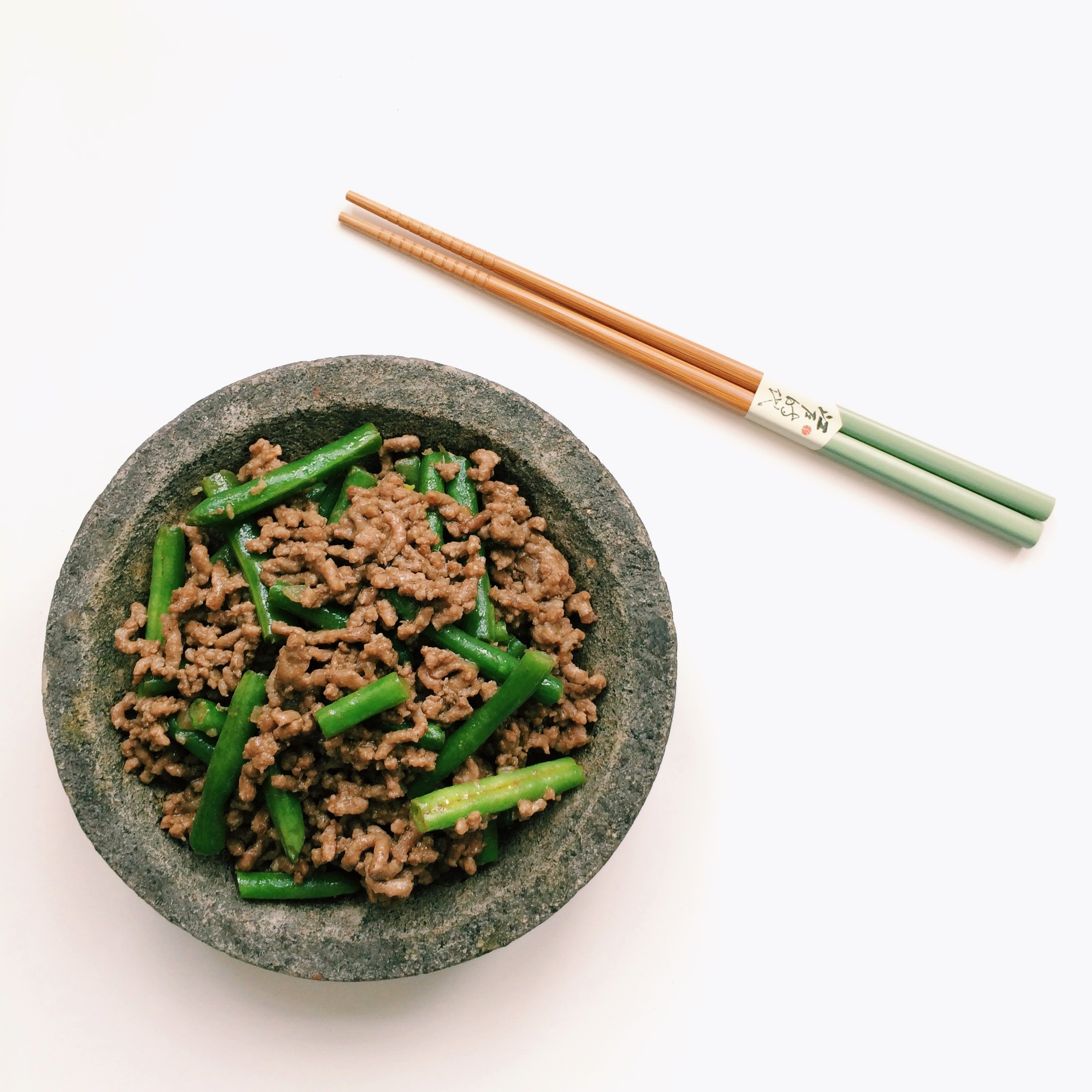 Chinese ground beef with long beans