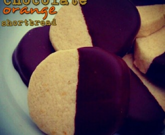 Countdown To Christmas. Recipe. Chocolate Orange Shortbread.