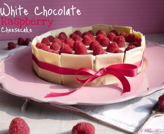 White Chocolate Raspberry Cheese Cake