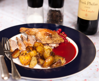 Roast Duck with Redcurrant Sauce – Don't Tell the Wife!