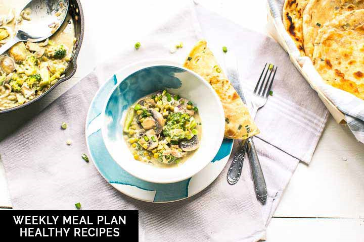 Weekly meal plan: healthy recipes