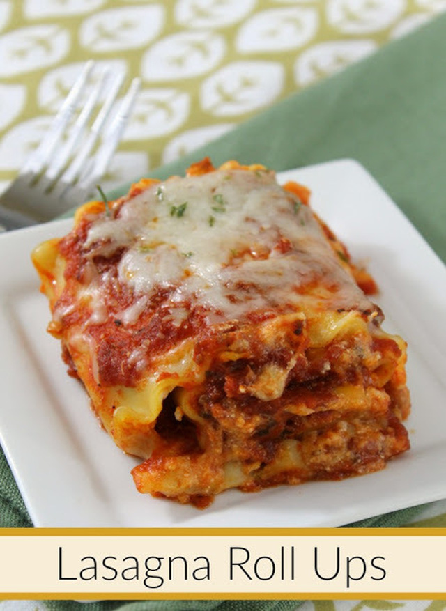 Cheesy Lasagna Roll Ups