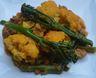 Curried cauliflower & sprouting broccoli