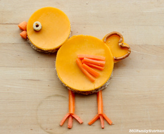 Fun Snack Creation: Cheesy Spring Chick