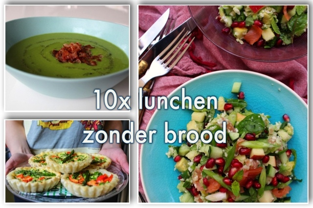 10x lunchen zonder brood