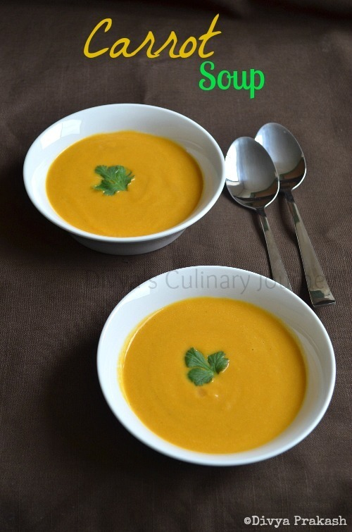 Carrot Soup - Easy and Healthy